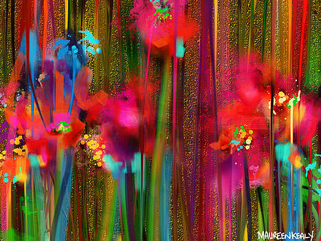Sparkle Flowers by Maureen Kealy
