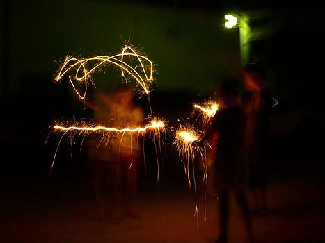 Sparklers by Valeria Donaldson