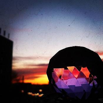 #sparkly #sunset #clouds #crystal #ball by Shawn Who