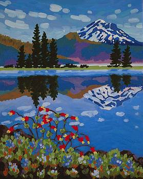 Sparks Lake Wildflowers by Dorothy Jenson