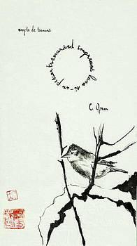 Sparrow In Autumn by Vlad Grigore