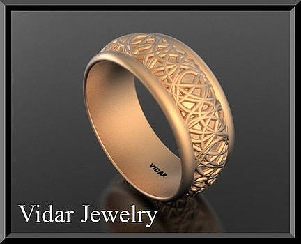Special Design 14k Rose Gold Woman Wedding Ring by Roi Avidar