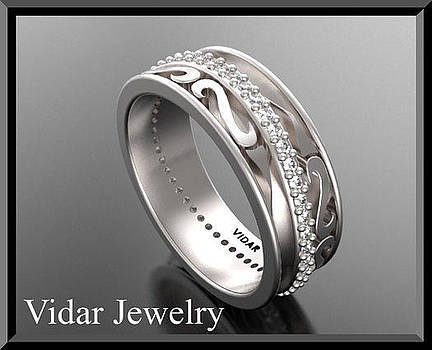 Special Diamond Eternity 14k White Gold Woman Wedding Ring by Roi Avidar