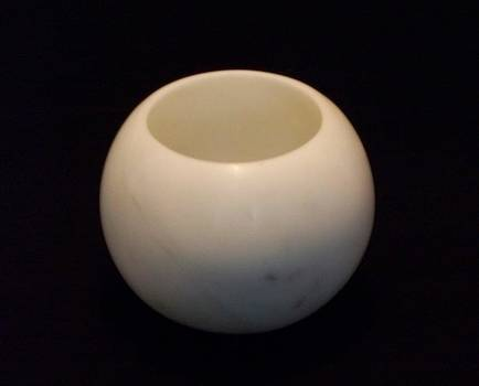 Spherical Marble Bowl by Jason Nelson