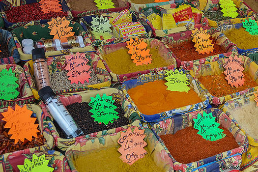 Allen Sheffield - Spices at the Vieux Nice Market