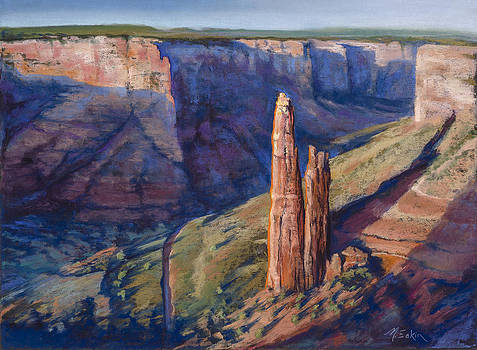 Spider Rock Canyon de Chelly AZ by Marjie EakinPetty