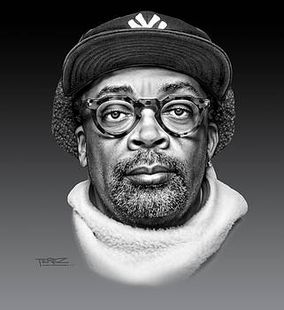Spike Lee Portrait by Justo Terez Jr