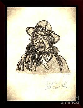 Spirit World Art American Indian Red Cloud Vintage by Sylvia Howarth