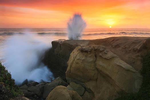 Splash Sunset  by Scott Cunningham