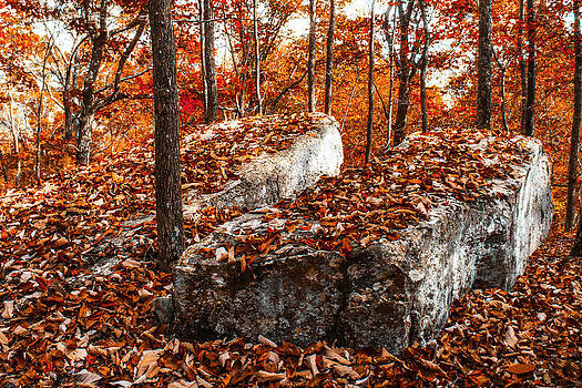 Split Rock in Fall by Bill Boehm