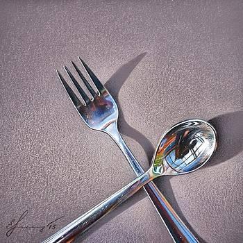 Spoon and fork 2 by Elena Kolotusha