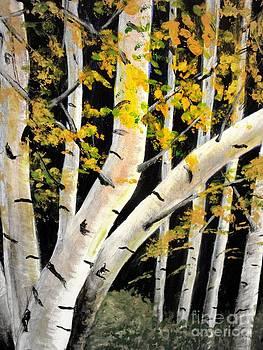 Spring Birch by Doreen Kirk