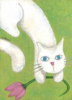 Spring Cat by Carol Neal