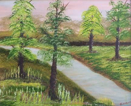 Spring Flowing by John Minarcik