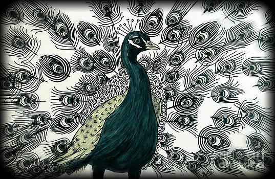 Spring Green Peacock by Megan Dirsa-DuBois