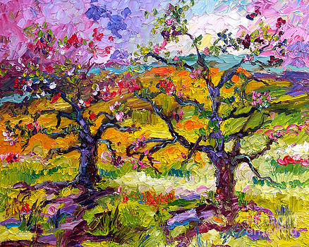 Ginette Callaway - Spring in Provence Pink Blossom Trees