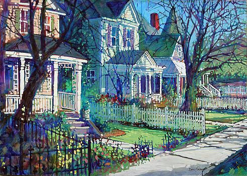Spring Morning on East Street by Dan Nelson