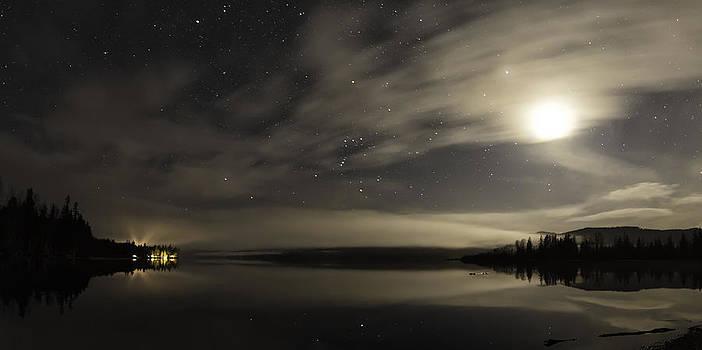 Misty Night on Lakelse Lake by Lisa Hufnagel