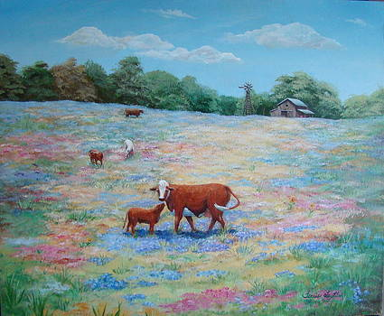 Spring Pasture by Terrie Leyton