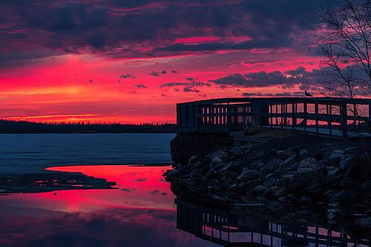 Spring Sunset by Valerie Pond