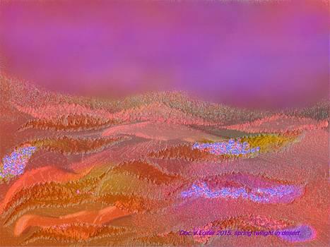 Spring twilight in desert. by Dr Loifer Vladimir