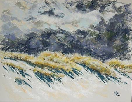 Squall approaching the dunes by Grizelda Cockwell
