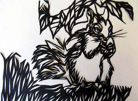 Alfred Ng - squirrel paper cut