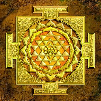 Sri Yantra Gold stone by Lila Shravani
