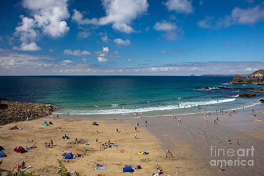St Agnes beach Cornwall by Anthony Morgan
