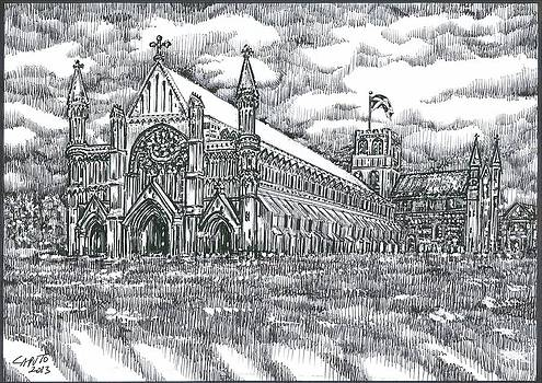 St Albans Abbey - England by Giovanni Caputo