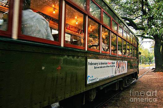 Kathleen K Parker - St. Charles Ave Streetcar Whizzes By