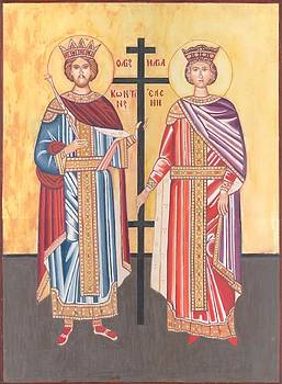 St. Constantine and Helena by Jovica Kostic