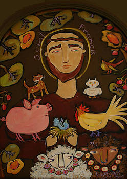 St. Francis with Yellow Pig by Bailey Jack