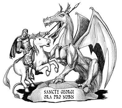 St. George and the Dragon by Jeffrey Oleniacz