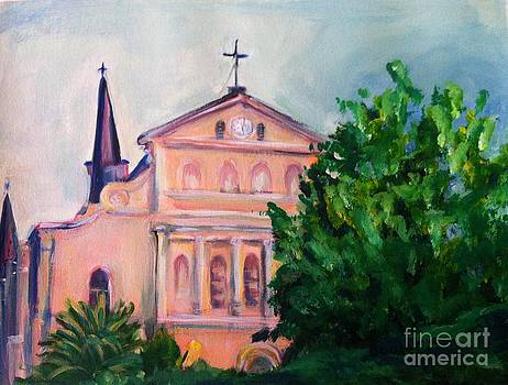 St. Louis Cathedral from Royal Street by Beverly Boulet