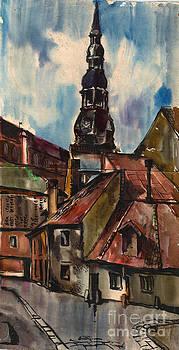 St. Peter's Church in Riga by Anna Lobovikov-Katz