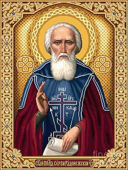 St. Sergey Radonezhsky The Wonderworker by Stoyanka Ivanova