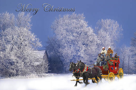 Randall Branham - Stagecoach Ride Winter Snow