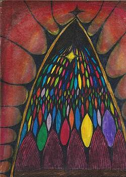 Stain glass window drawing by Cim Paddock