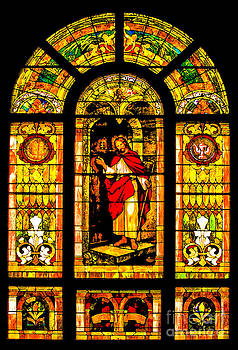Stained Glass In Abandoned Church by Brian Mollenkopf