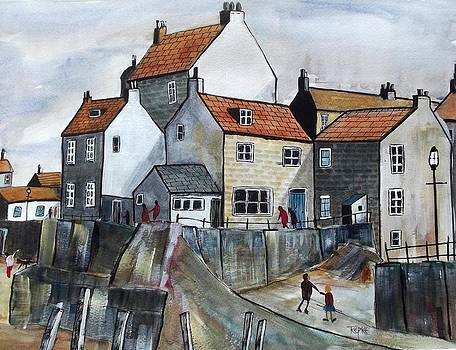 Staithes Fishing Village by Trudy Kepke
