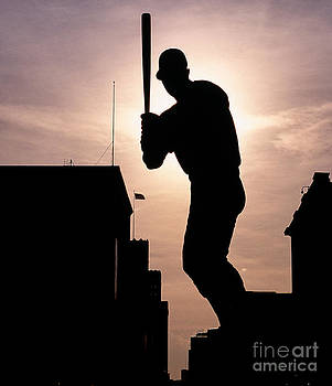 Stan Musial Statue Silhouette 2 by Tracy Knauer
