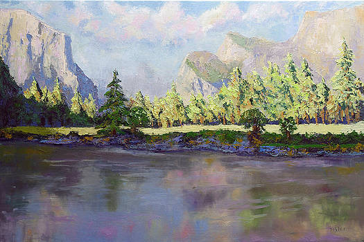 Standing Guard Over Yosemite Valley by Linda Riesenberg Fisler