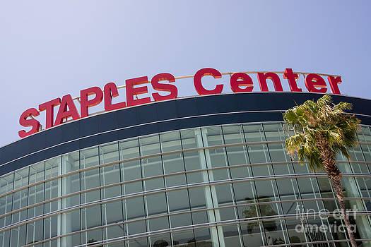 Paul Velgos - Staples Center Sign in Los Angeles California