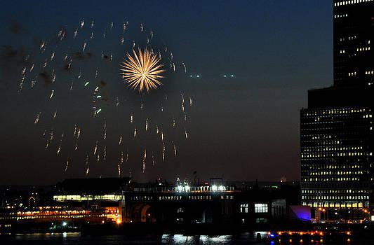 Starburst Fireworks on July 4 New York City by Diane Lent