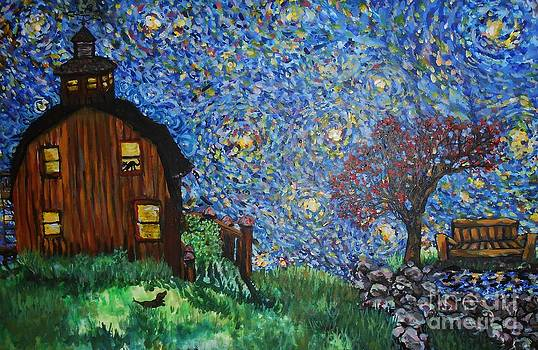 Starry Barn by Emily Michaud
