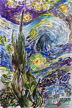 Ginette Callaway - Starry Night After Vincent Van Gogh
