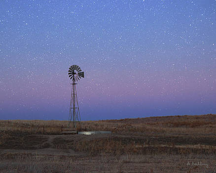 Starry Windmill by Andrea Kelley