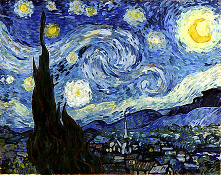 Starry Night Reproduction Art Work by Vincent van Gogh