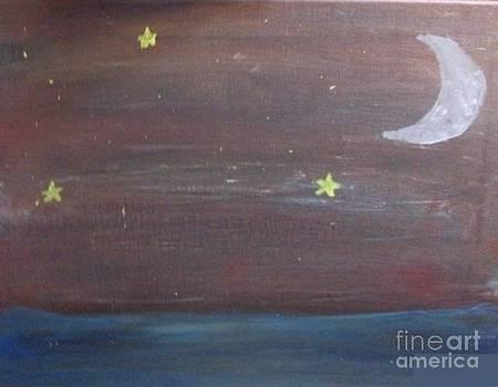 Starry Ocean Night by Krystal Jost